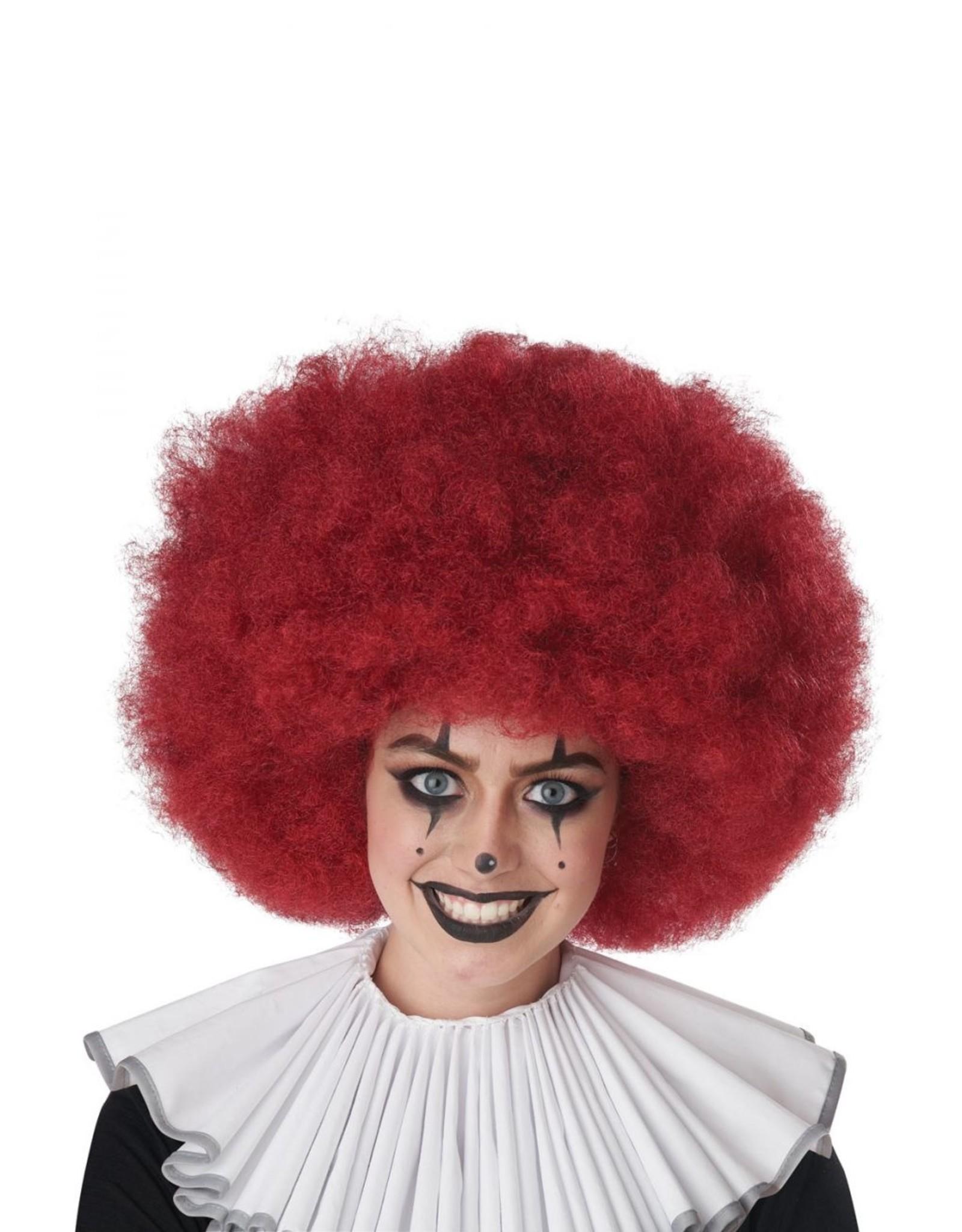 California Costume Jumbo Clown Burgundy Wig
