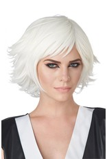 California Costume Cosplay White Wig