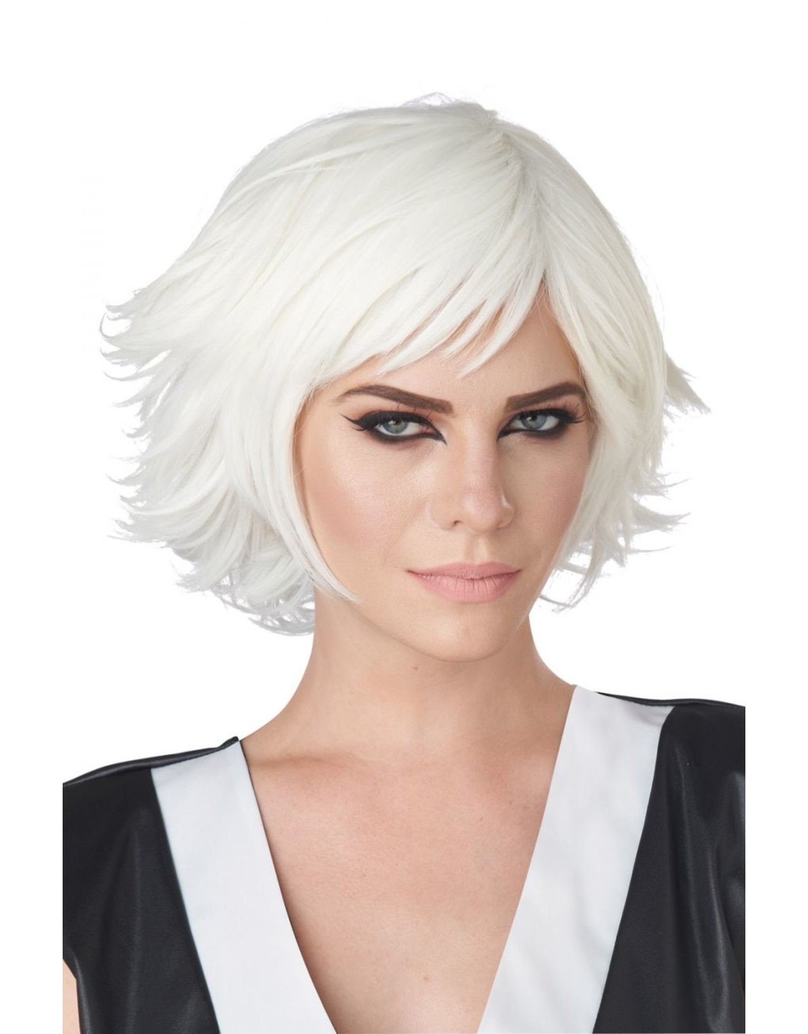 California Costume Cosplay Wig White