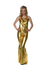 Underwraps Ladies Night Gold Disco Girl