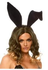 Leg Avenue Velvet Bunny Ears Black