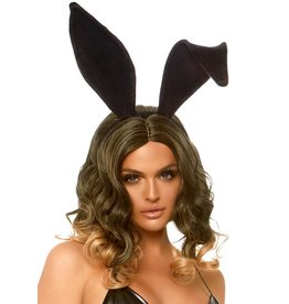 Leg Avenue Velvet Bunny Ears Black