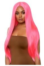 Leg Avenue Long Straight Wig Neon Pink
