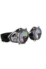 Western Fashion Kaleidoscope Goggles Silver