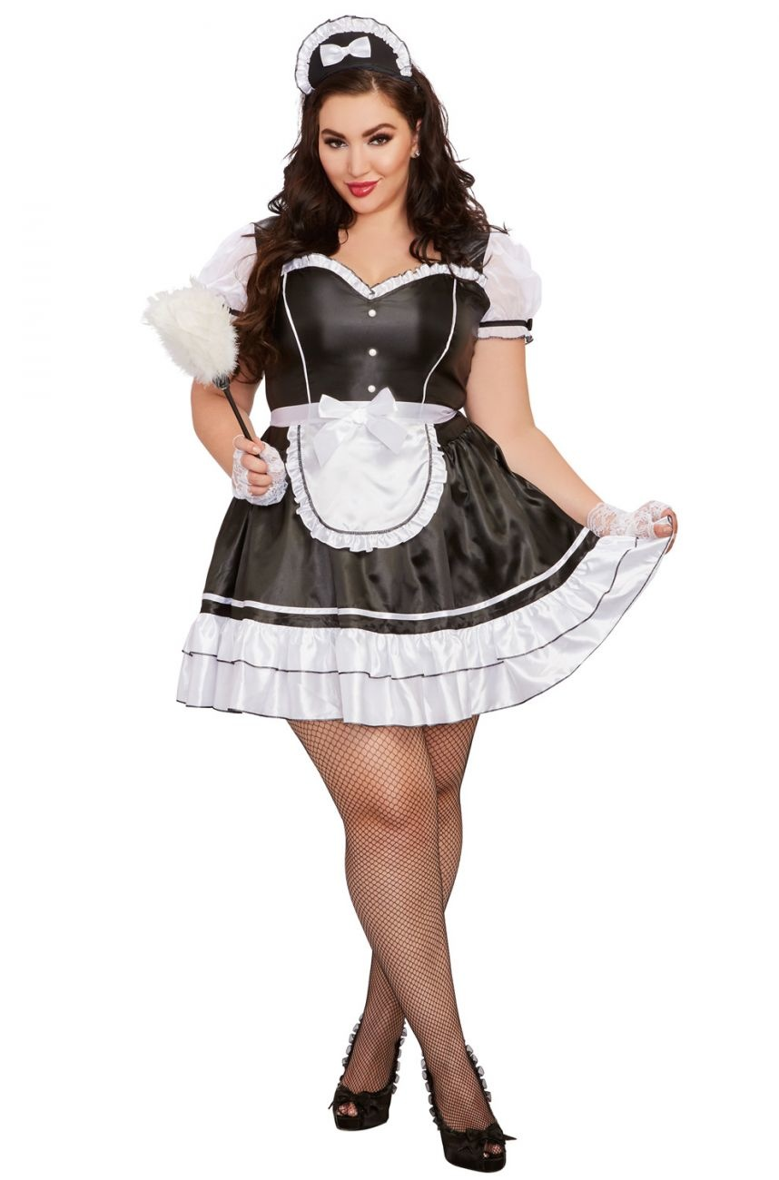 Keep it Clean French Maid Plus - Black Cat Costumes