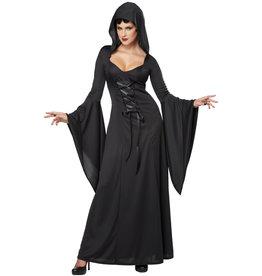 California Costume Hooded Robe Black