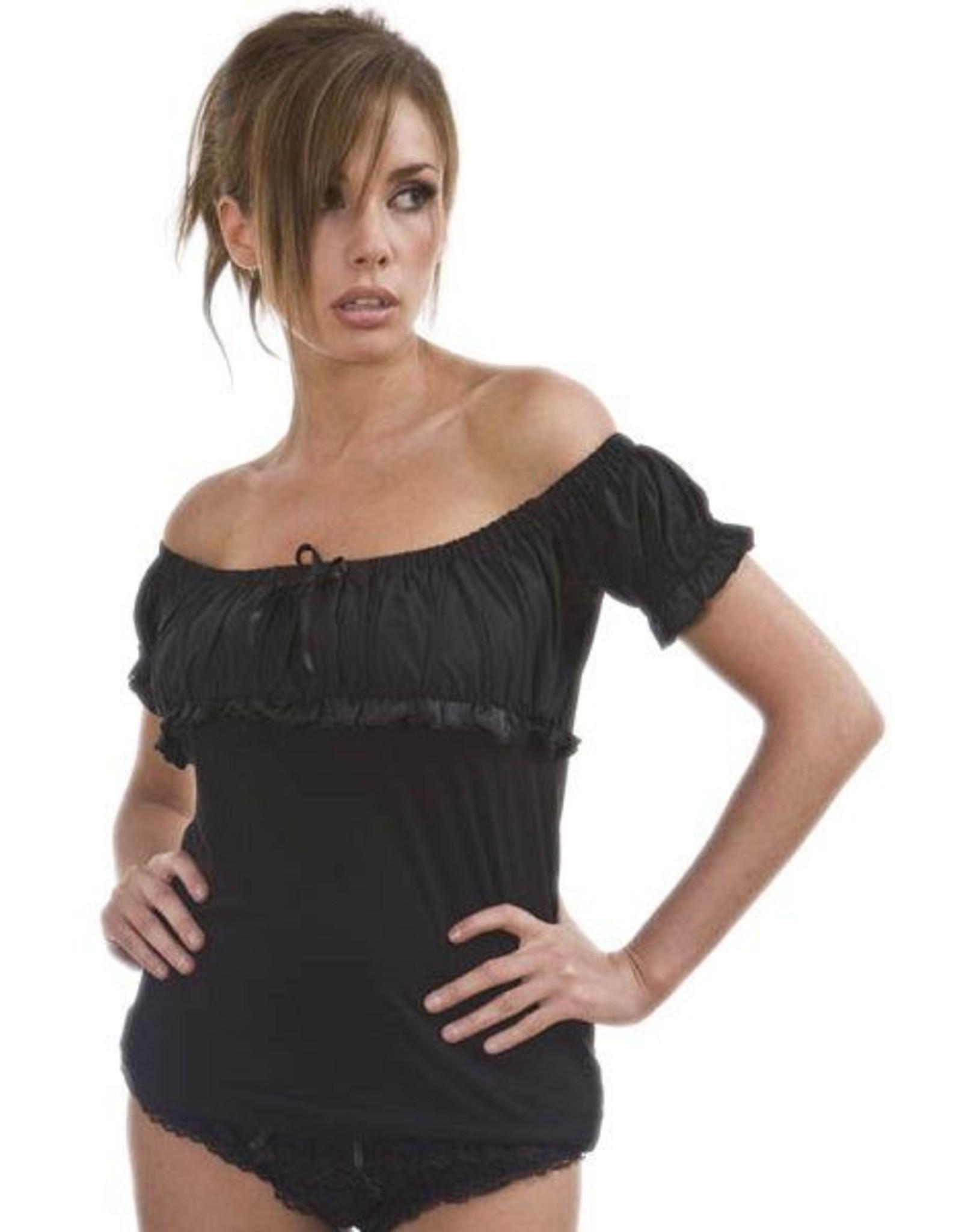 Burleska Gypsy Top Black