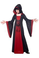 California Costume Hooded Robe Red/Blk