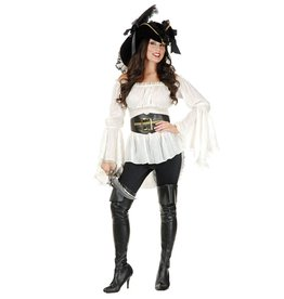 Charades Thigh High Pirate Boots M/L
