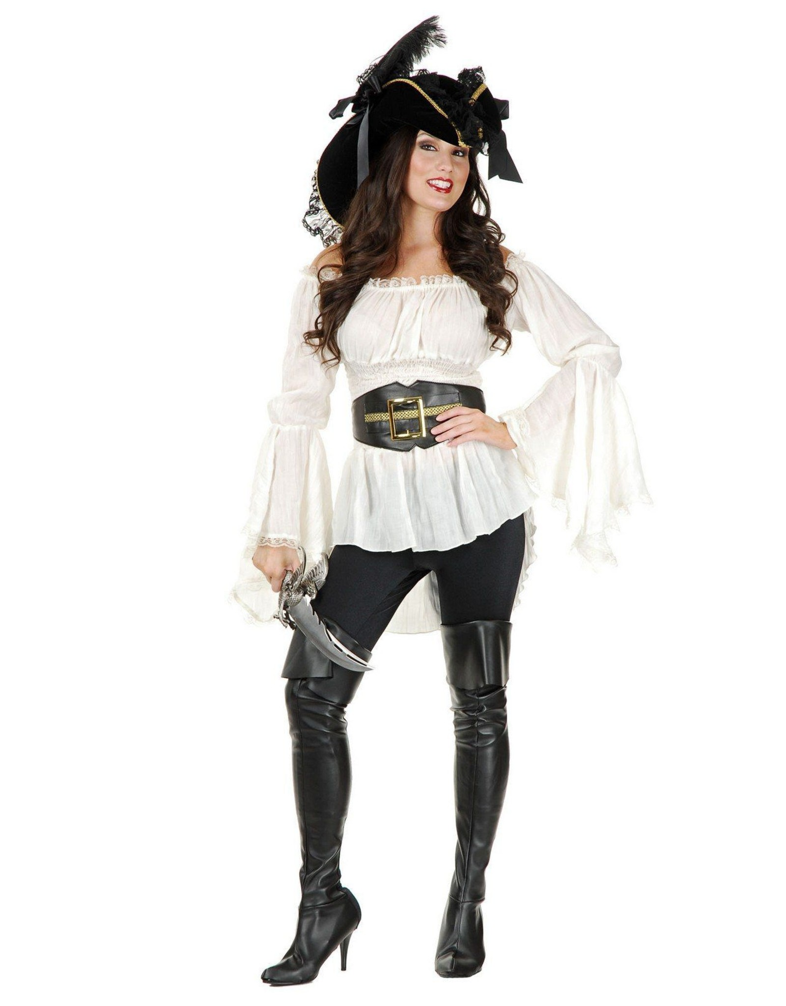 Charades Thigh High Pirate Boots S/M