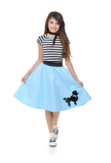 Charades Poodle Skirt Blue Child
