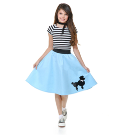 Charades Poodle Skirt Blue Child