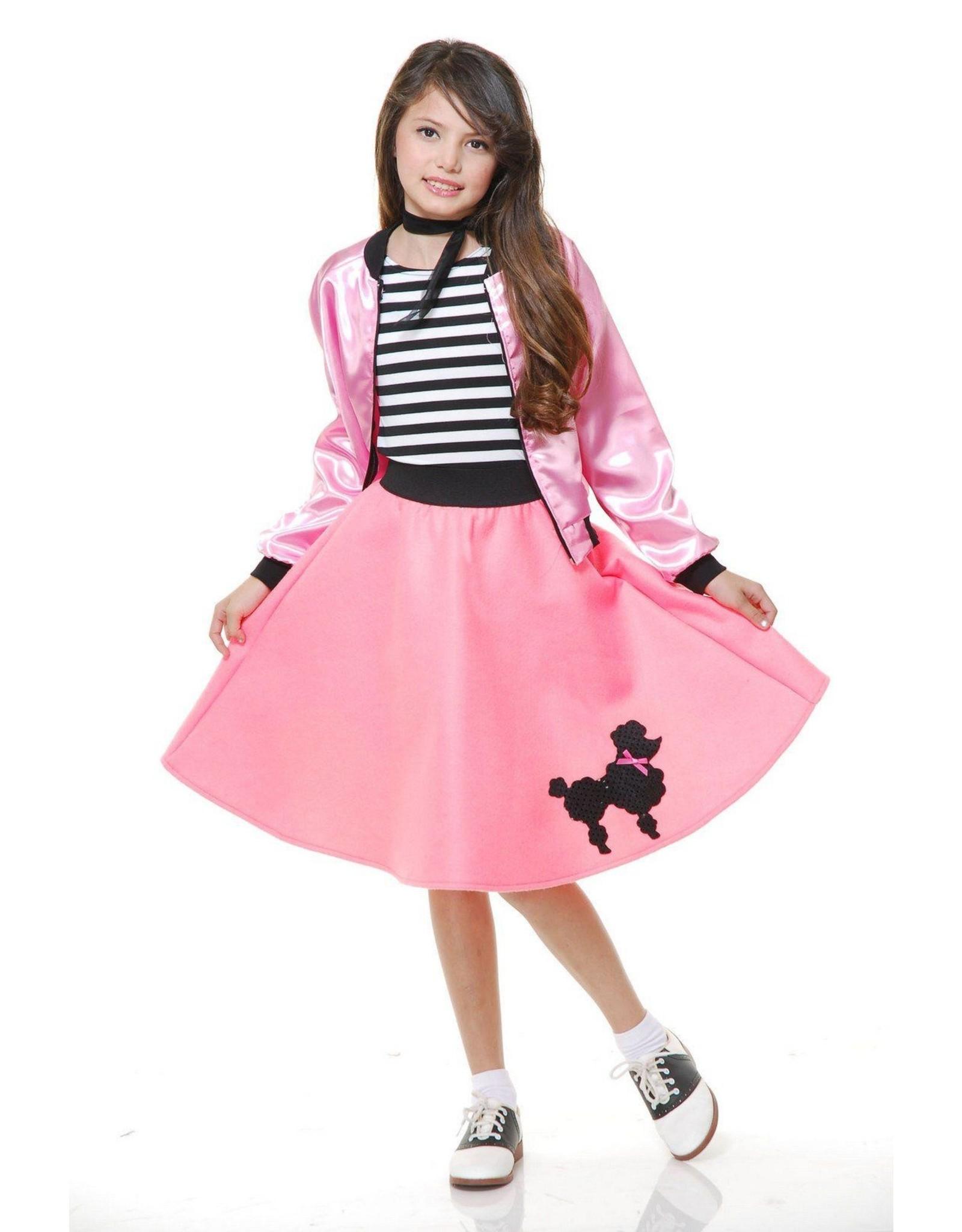 Charades Poodle Skirt Pink Child