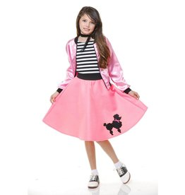Charades Poodle Skirt Pink Child