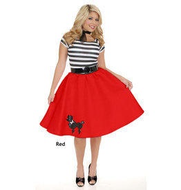 Charades Poodle Skirt Red