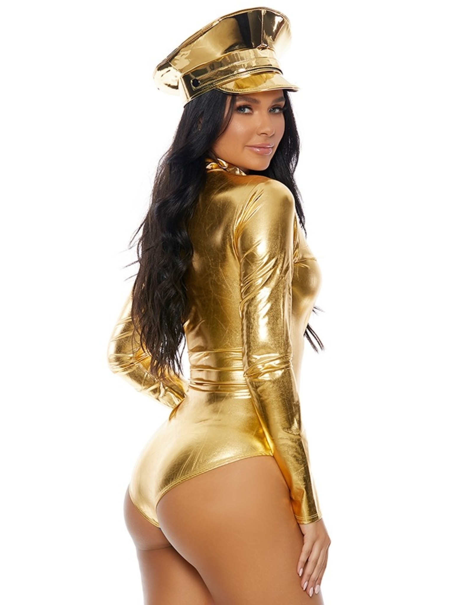 Forplay Metallic Bodysuit Gold