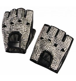 Forum Rhinestone Biker Gloves