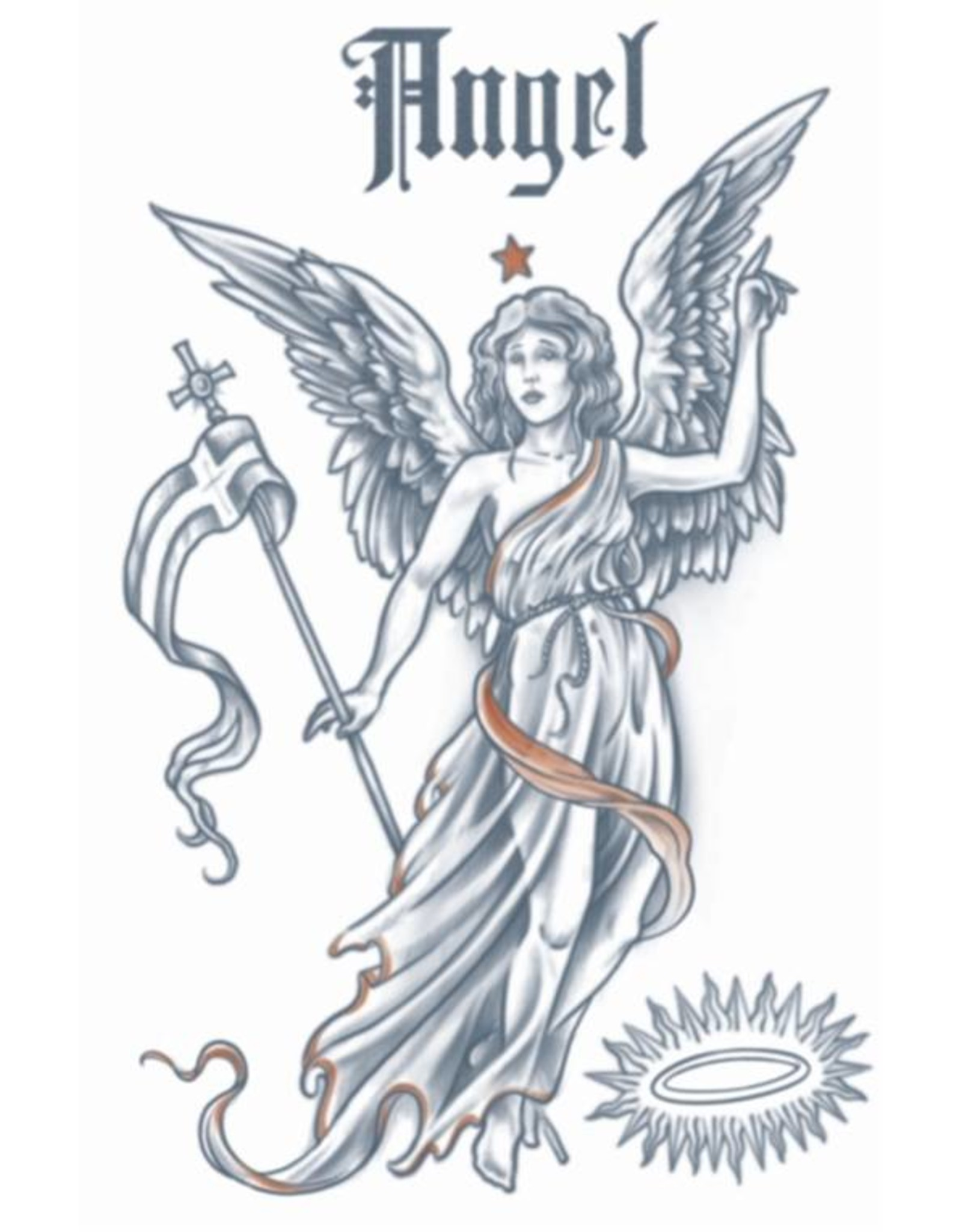 Tinsley Transfers 1910 Angel Tattoo