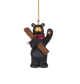 See You On The Slopes Ornament(Bear w/Skis waving)