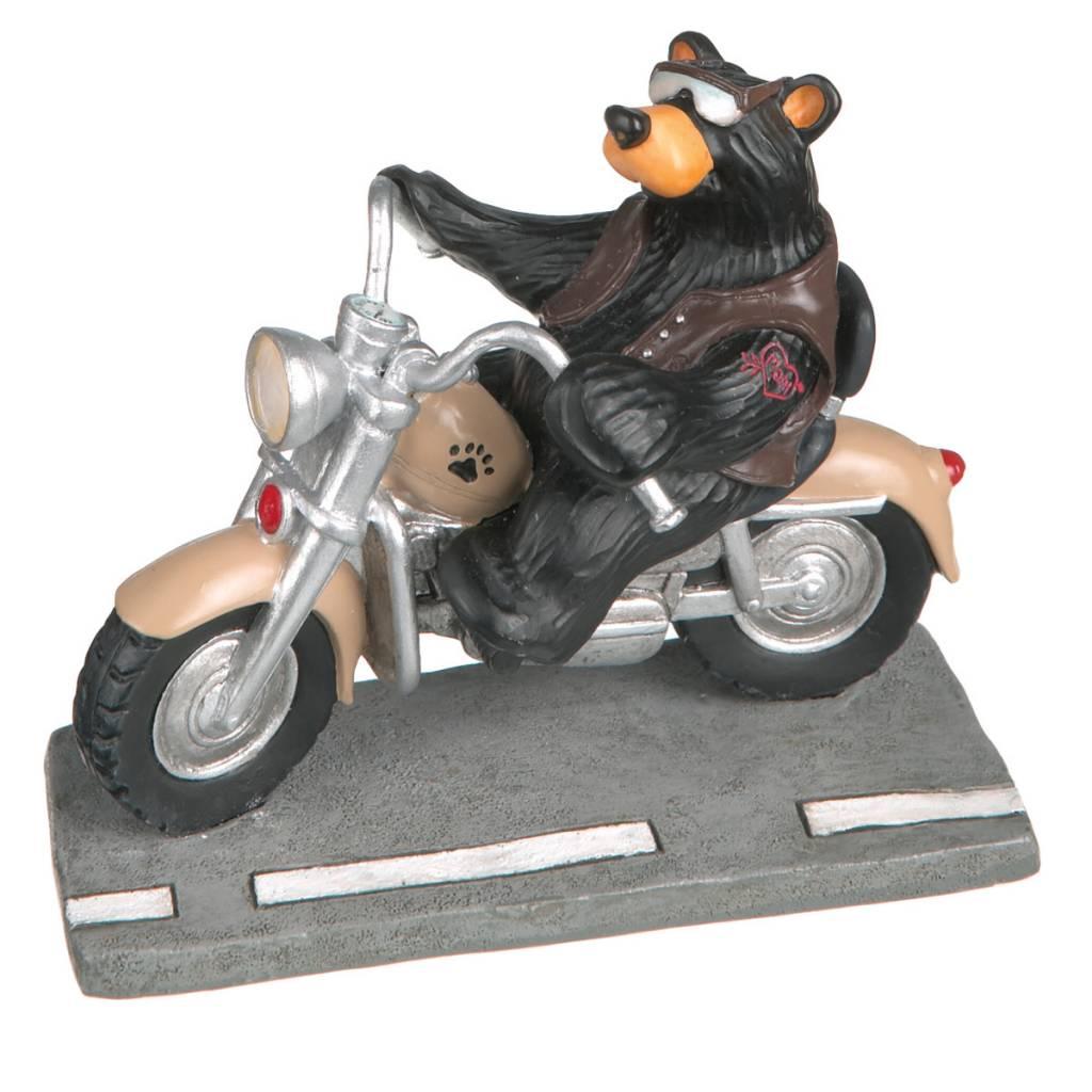 """""""Harley"""" Biker Bear Figurine 50112"""
