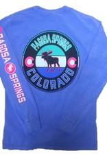 Back Again Moose CO Flag L/S Tee