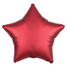 Foil Balloon - Apple Red Satin - Luxe Star - 18""