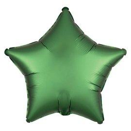 "Foil Balloon - Emerald Green - Satin Luxe Star - 19"""