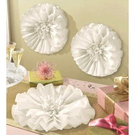 "Flower Fluffy Dercorations- 16""- 3pcs"