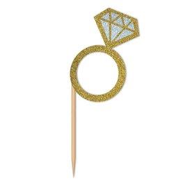 Cupcake Toppers- Diamond Ring