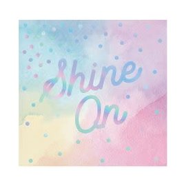 Beverage Napkins- Iridescent- Shine On