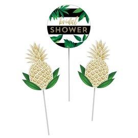 Centerpiece Sticks- Pineapple Wedding- 3pcs