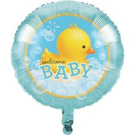 "Foil Balloon- Bubble Bath Welcome Baby- 18"""