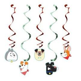 Dizzy Danglers- Dog Party- 5pk