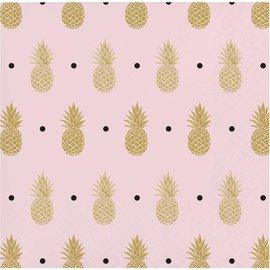 Beverage Napkins- Pineapple Wedding- 16pk-3ply