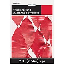 Fringe Garland- Red