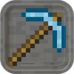 """Beverage Paper Plates- Minecraft- 8pk- 7"""""""