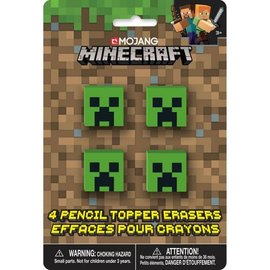 Pencil Topper Erasers- Minecraft- 4pk