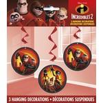Hanging Decorations-Incredibles 2-3pk
