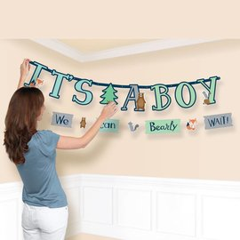 Jumbo Letter Banner- Bear-ly Wait-6ft
