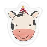 "Beverage Paper Plates-Cow Shape-Banyard Birthday-8pk-7"""