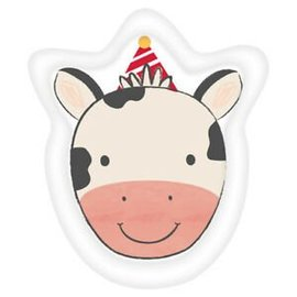 Beverage Paper Plates-Cow Shape-Banyard Birthday-8pk-7""