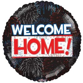Foil Balloon - Welcome Home/Fireworks/18""