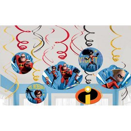Swirl Decorations-Incredibles 2-12pcs