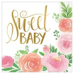 Luncheon Napkins-Floral Baby-16pk-2ply