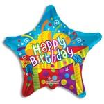 "Foil Balloon -Happy Birthday/Pressent/Star 18"""