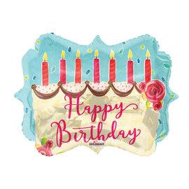 Foil-Happy Birthday/Birthday Cake