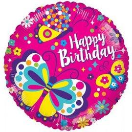 Foil-Happy Birthday/Butterfly