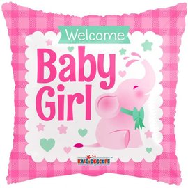 """Foil Balloon -Welcome Baby Girl 18"""""""