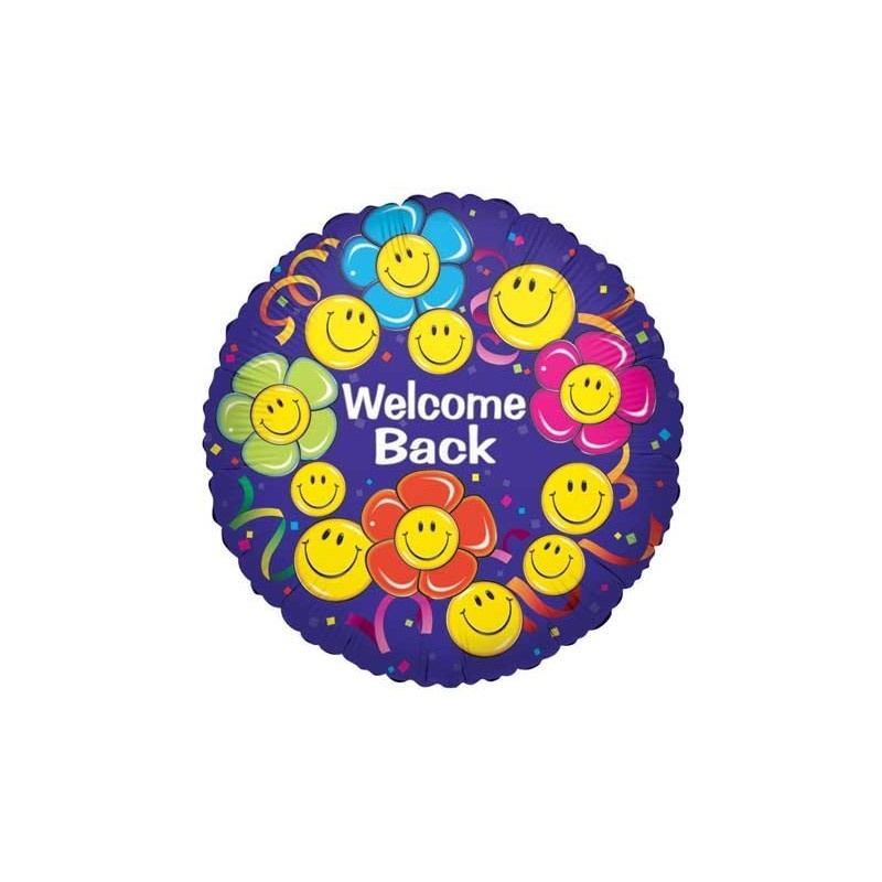 Foil Welcome Backsmiley Face Victoria Party Store
