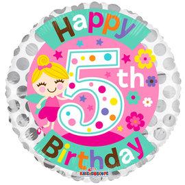 Foil-Happy 5th Birthday